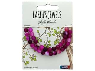 craft & hobbies: John Bead Semi Precious Bead Earth's Jewels Pink Agate 6mm Round Matte 8""