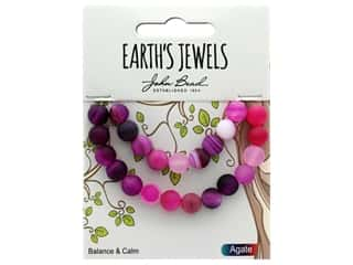John Bead Semi Precious Bead Earth's Jewels Pink Agate 8mm Round Matte 8""