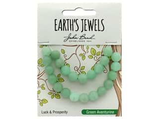 John Bead Semi Precious Bead Earth's Jewels Green Adventurine 8mm Round Matte 8""