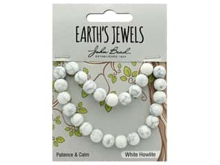 craft & hobbies: John Bead Semi Precious Bead Earth's Jewels White Howlite 8mm Round Matte 8""