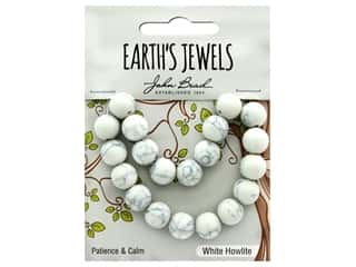 craft & hobbies: John Bead Semi Precious Bead Earth's Jewels White Howlite 10mm Round Matte 8""