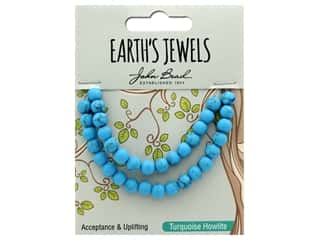 John Bead Semi Precious Bead Earth's Jewels Turquoise Howlite 6mm Round Matte 8""