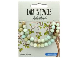 John Bead Semi Precious Bead Earth's Jewels Amazonite 6mm Round Matte Natural 8""