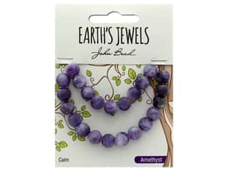 John Bead Semi Precious Bead Earth's Jewels Dog Teeth Amethyst 8mm Round Matte 8""