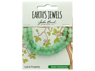 John Bead Semi Precious Bead Earth's Jewels Green Adventurine 6mm Round Matte 8""