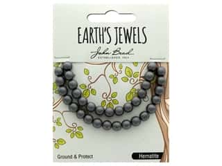 John Bead Semi Precious Bead Earth's Jewels Hematite 6mm Round Matte 8""