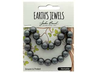 John Bead Semi Precious Bead Earth's Jewels Hematite 10mm Round Matte 8""