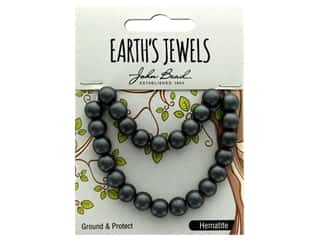 John Bead Semi Precious Bead Earth's Jewels Hematite 8mm Round Matte 8""