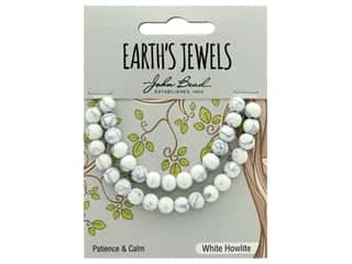 John Bead Semi Precious Bead Earth's Jewels White Howlite 6mm Round Matte 8""