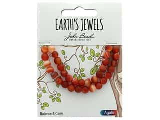 John Bead Semi Precious Bead Earth's Jewels Red Agate 6mm Round Matte 8""