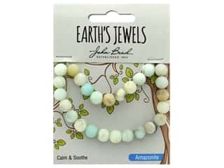 John Bead Semi Precious Bead Earth's Jewels Amazonite 8mm Round Matte Natural 8""