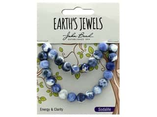 craft & hobbies: John Bead Semi Precious Bead Earth's Jewels Sodalite 8mm Round Matte Natural 8""