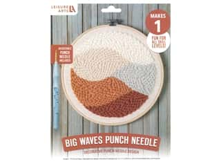 projects & kits: Leisure Arts Kit Mini Maker Punch Needle Big Waves