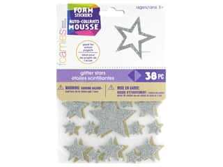 craft & hobbies: Darice Foamies Sticker Glitter Stars Gold/Silver