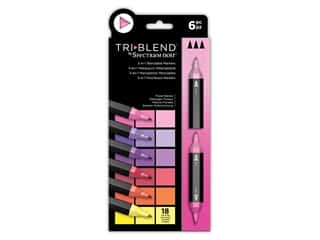 Crafter's Companion Spectrum Noir Tri Blend Marker Set Floral 6pc