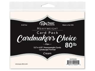 Paper Accents Cardmakers Choice 4 1/4 x 5 1/2 in. Blank Cards Landscape Cream 25 pc.