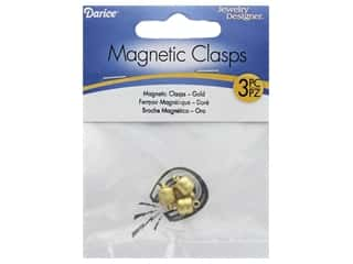 Darice Clasp Magnetic 7mm x 11mm Gold 3pc