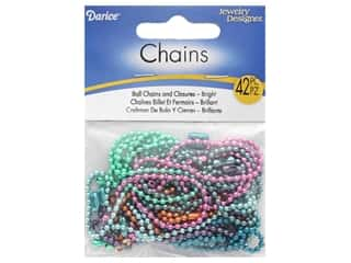 "Darice Chain Ball 18"" 1.8mm Bright Color 7pc"