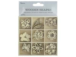 craft & hobbies: Darice Wood Shapes Butterfly 45pc