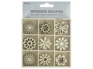 craft & hobbies: Darice Wood Shapes Flower 45pc