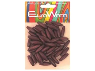 beading & jewelry making supplies: John Bead Wood Bead Spaghetti 6x20mm Mahogny