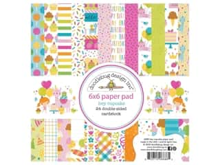 "Doodlebug Collection Hey Cupcake Paper Pad 6""x 6"""