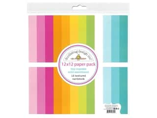"""Doodlebug Collection Hey Cupcake Paper Pack 12""""x 12"""" Solid"""