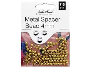 John Bead Must Have Findings Spacer Bead Metal 4mm Gold 115pc