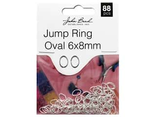 John Bead Must Have Findings Jump Ring Oval 8x 6mm Silver 88pc