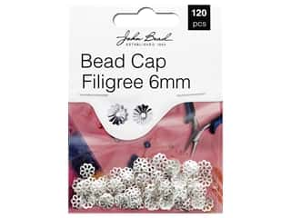 John Bead Must Have Findings Bead Cap Filigree 6mm Silver 120pc