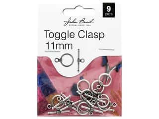 beading & jewelry making supplies: John Bead Must Have Findings Toggle Clasp 11mm Antique Silver 9pc