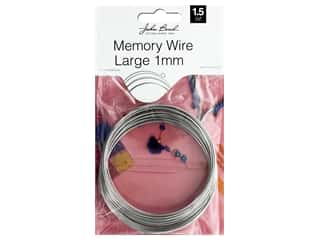 John Bead Must Have Findings Memory Wire Large 1mm Silver 1.5oz