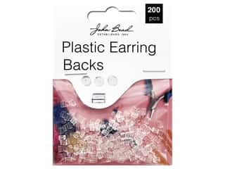 John Bead Must Have Findings Earring Back Plastic 200pc