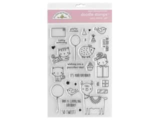Doodlebug Collection Hey Cupcake Doodle Stamps Girl Party Animal