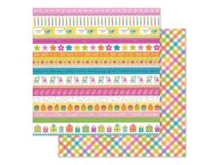 "Doodlebug Collection Hey Cupcake Paper 12""x 12"" Plaid Party Girl (25 pieces)"