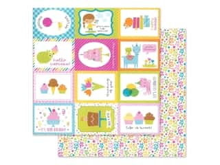 """Doodlebug Collection Hey Cupcake Paper 12""""x 12"""" Birthday Bash (25 pieces)"""