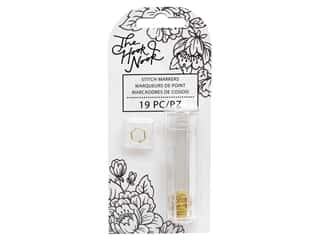 American Crafts The Hook Nook Stitch Markers Split Ring Gold 19pc