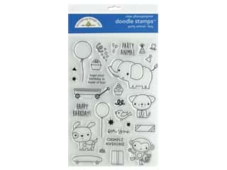 Doodlebug Party Time Doodle Stamps Party Animal Boy