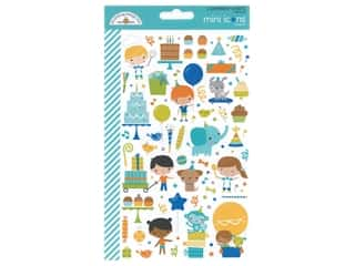 scrapbooking & paper crafts: Doodlebug Mini Icons Stickers - Party Time