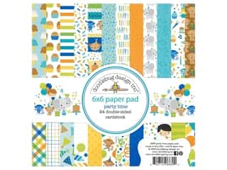 "Doodlebug Party Time Paper Pad 6""x 6"""