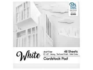 scrapbooking & paper crafts: Paper Accents 12 x 12 in. Cardstock Pad 48 pc. White