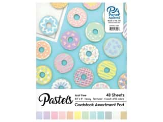 Paper Accents 8 1/2 x 11 in. Cardstock Pad 48 pc. Pastel