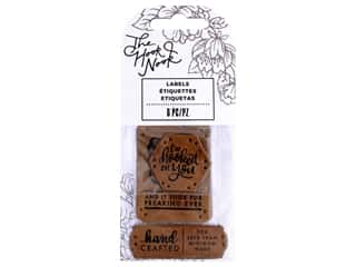 American Crafts The Hook Nook Project Labels Sew On Faux Leather 6pc