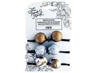 elastic: American Crafts The Hook Nook Elastic Resin Marble Gold & White, Grey & White, Gold 3pc