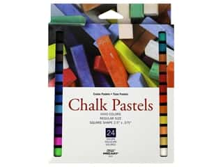 Pro Art Chalk Pastel Square Vivid Colors 24pc