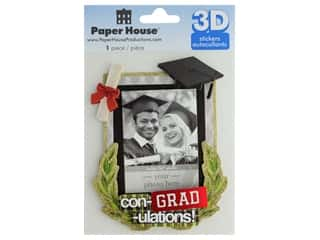 scrapbooking & paper crafts: Paper House 3D Stickers - Con-Grad-ulations Keepsake