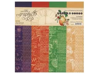 "scrapbooking & paper crafts: Graphic 45 Fruit & Flora Paper Pad 12""x 12"" Patterns & Solids"