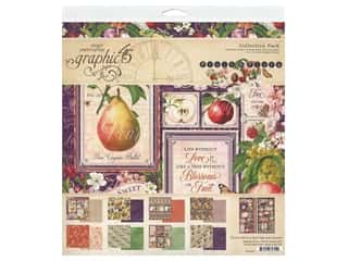 "scrapbooking & paper crafts: Graphic 45 Fruit & Flora Collection Pack 12""x 12"""