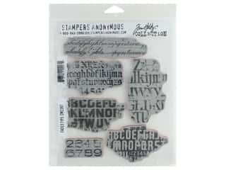Stampers Anonymous Cling Mount Stamp Tim Holtz Faded Type