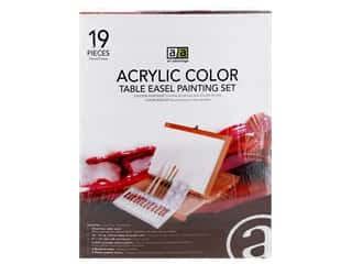 Art Advantage Acrylic Paint Set With Wood Box Easel